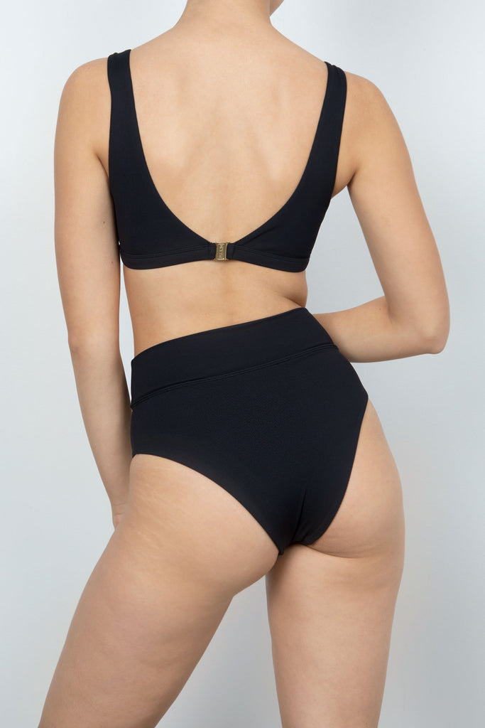 Lido Top in Black Rib