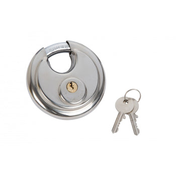 Tomahawk 90mm Stainless Steel Disc Padlock