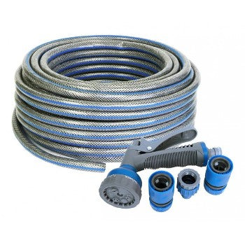 Garden Hose & Connector Kit 30M