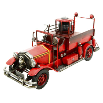 Ornament Metal Fire Engine