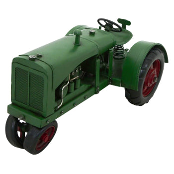 Ornament Metal Green Tractor