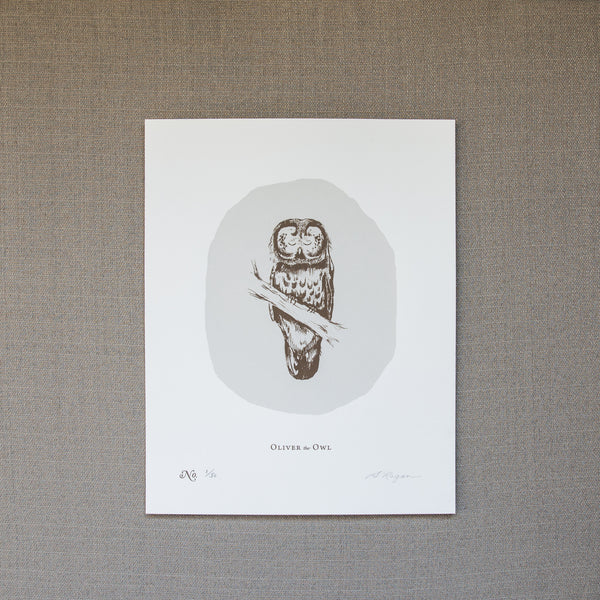 Oliver the Owl - Screen Print