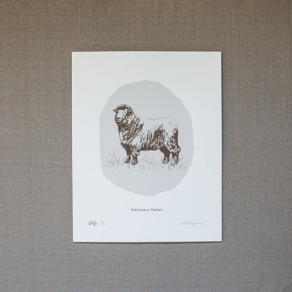 Shiloh the Sheep - Screen Print
