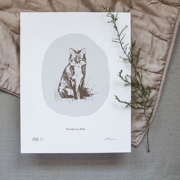 Flora the Fox - Screen Print