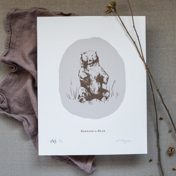 Bernard the Bear - Screen Print