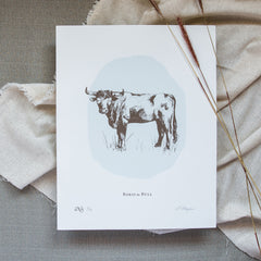 Boris the Bull - Screen Print