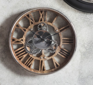Clock - Polished Nickel Wall Clock