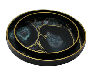 Tray - Round Serving Tray 'Midnight Glory' 2 Sizes