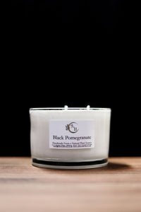 Candle Jumbo 3 Wick - Black Pomegranate