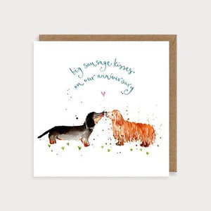 Card - Sausage Dog Anniversary