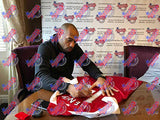 Allstarsignings Dennis Bergkamp Thierry Henry Robert Pires and Patrick Vieira signed and Framed Arsenal shirts with COA and proof