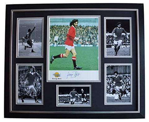 Sportagraphs George Best SIGNED Framed Photo Autograph Huge display Manchester United COA