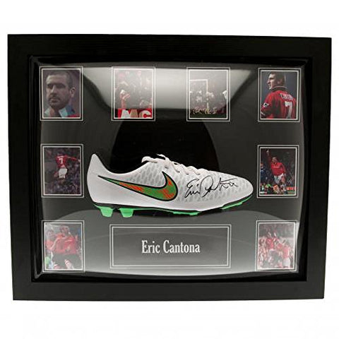 Official Manchester United FC Cantona Signed Boot (Framed)