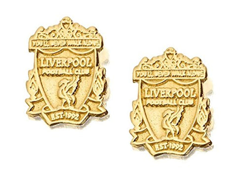 9ct Gold Liverpool FC Crest Earrings