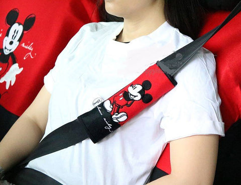 disney mickey mouse seat belt covers