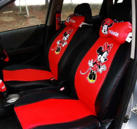 Disney Minnie Mouse leather seats
