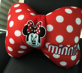 Disney Minnie Mouse neck cushion in car