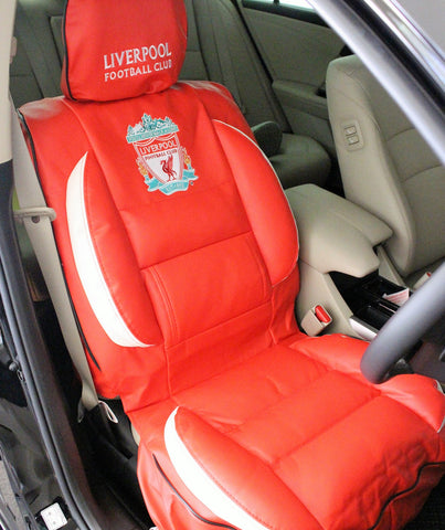 PREMIUM GEAR 2 SEAT COVERS, 2 HEAD REST COVERS LIVERPOOL FC CAR SEAT COVER SET