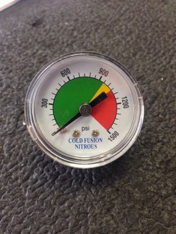 COLD FUSION NITROUS BOTTLE PRESSURE GAUGE
