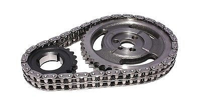 COMP Cams 3100 Hi-Tech Double Roller Race Timing Chain Set for Chevrolet Small Block 327 350 5.7L Engines