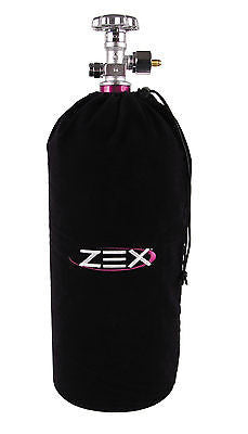 Zex 82000B Black Velvet Nitrous Bottle Bag