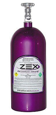 Zex 82000 10 lbs. Purple Nitrous Oxide Bottle with Valve