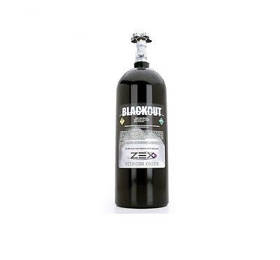 Zex 82243B Blackout Race Nitrous Bottle 15lb. (w/ Valve)
