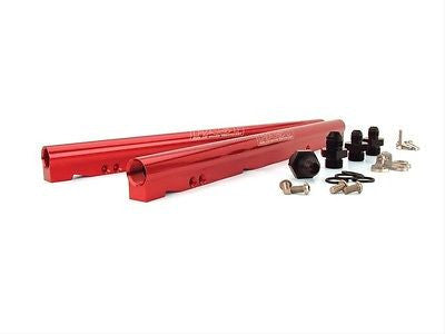 FAST 146027-KIT LSXR LS3 LS7 L76 L99 RED ANODIZED ALUMINUM BILLET FUEL RAIL KIT