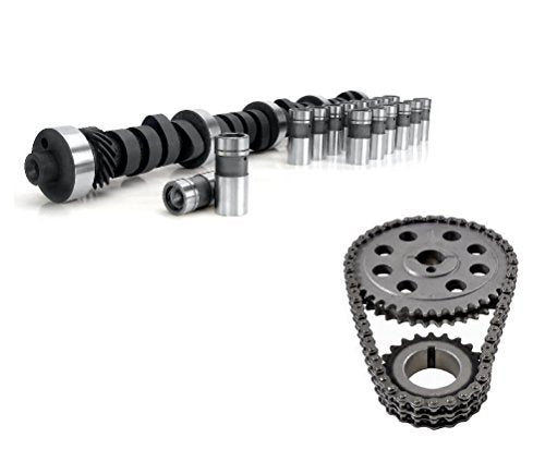 Engine Pro MC1734 Torque Cam Flat Tappet Hyd. Camshaft, Lifters, and Timing Chain Set for Small Block Ford Engines .448/.472 Lift