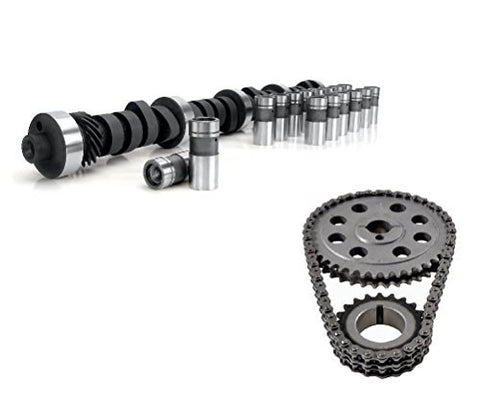 Engine Pro Torque Cam Flat Tappet Camshaft, Lifters, and Timing Chain Set Kit for Small Block Ford .448/.472 Lift
