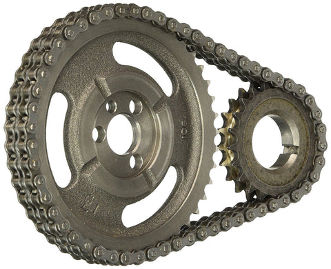 Enginetech TS163 Double Roller Timing Chain Set for Chevrolet Small Block Engines with Flat Tappet Camshafts
