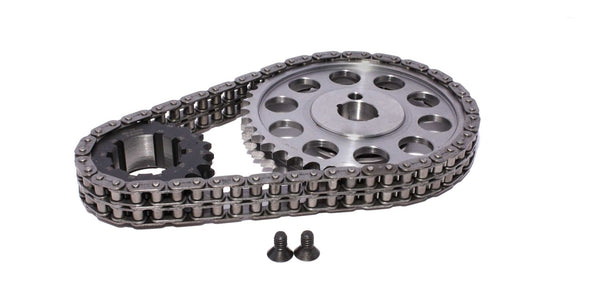 COMP Cams 7138 Adjustable Billet Double Roller TIming Chain Set for 1965-1988 Ford Small Block SBF 289-302 Engines