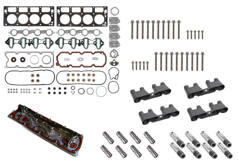 AFM/DOD Lifter Replacement Kit. Gasket Set, Head Bolts, Full Lifter Set, Lifter Trays, VLOM Valley Plate. for 2006-2014 5.3L Engines