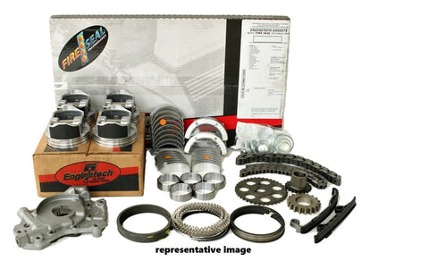 "Enginetech RCC262K Engine Rebuild Kit for 1994 GM Truck 4.3L 262 VIN Z 3/4"" Pump w/ T On Block"