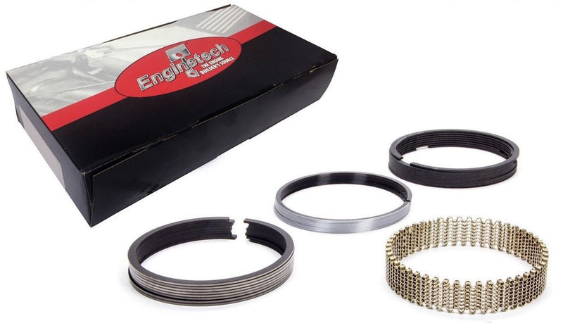 "Enginetech R40058 Cast Piston Rings Set 5/64 5/64 3/16"" 4.000"" Bore Chevrolet Chrysler Ford Engines"