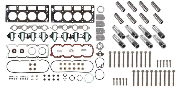 AFM/DOD Active Fuel Management Lifter Replacement Kit. Head Gasket Set, Head Bolts, Full Lifter Set. for 2006-2014 5.3L Engines