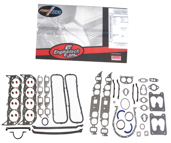 Enginetech C454T-43 Engine Overhaul Gasket Set for 1980-1990 Chevrolet BBC 427 454 7.0L 7.4L