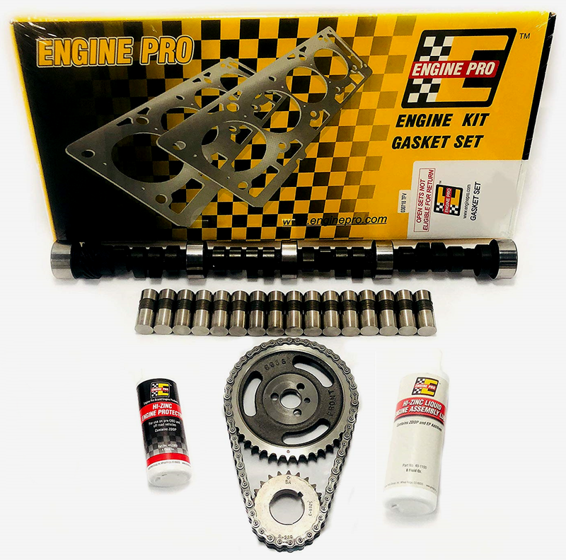 Engine Pro MC1991 Stage 3 Camshaft Install Kit for 1967-1979 Small Block Chevy 350 5.7L 465/465 Lift Camshaft Install Kit