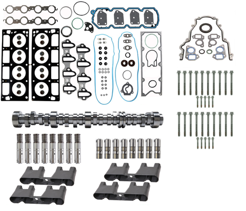 AFM/DOD Lifter Replacement Kit. Gasket Set, Head Bolts, Full Lifter Set, Lifter Trays, VLOM Plate, and Camshaft for 2007-2013 5.3L Engines