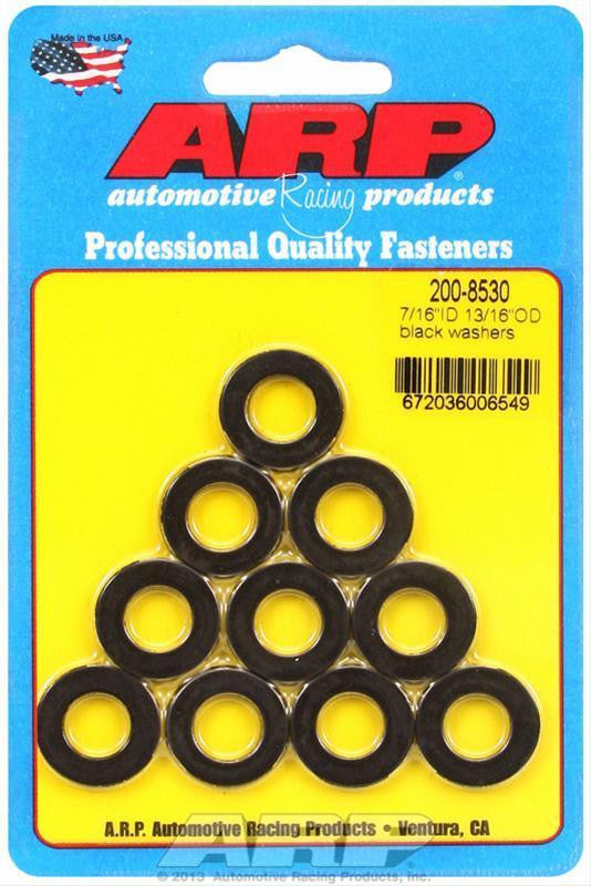 "ARP 200-8530 7/16"" ID 13/16"" OD BLACK WASHERS"