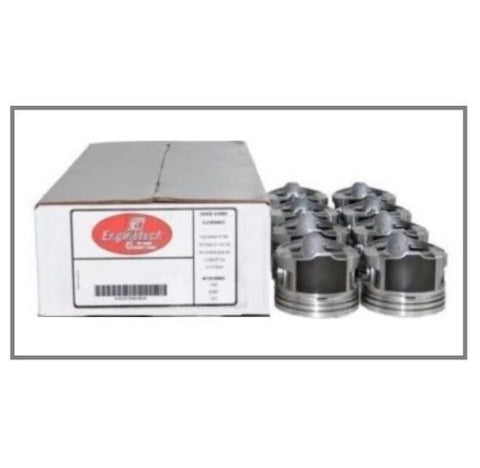 Enginetech P5036(8) Flat Top Coated Skirt Pistons Set for 2005-2009 Chevrolet GM LS 4.8L 5.3L Engines