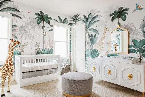 jungle nursery wallpaper munks and me