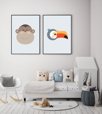 safari nursery posters