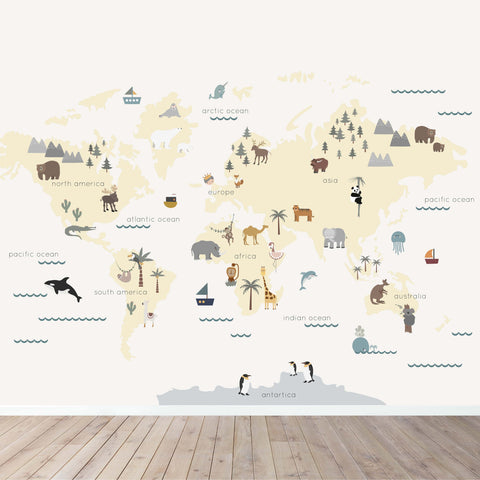 map wall mural wallpaper