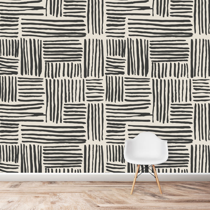Brush Stroke Lines Wallpaper | Various Colours Available