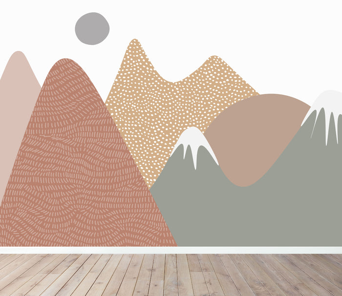 mountain mural wallpaper | munks and me