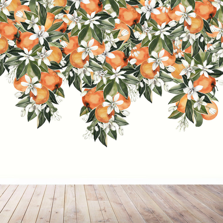 ORANGE BLOSSOM WALL MURAL