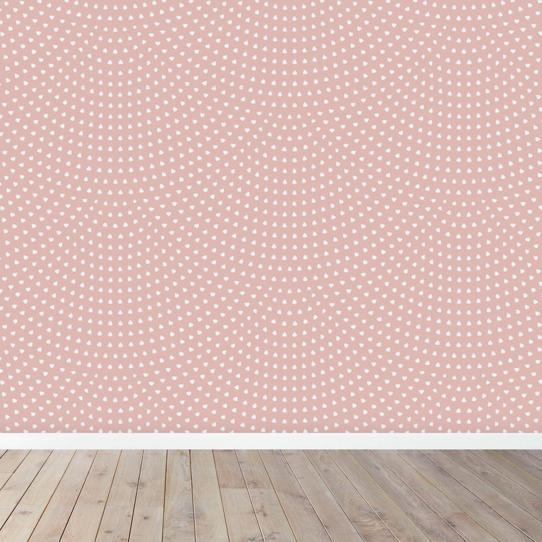 Scallop Wallpaper | Pink