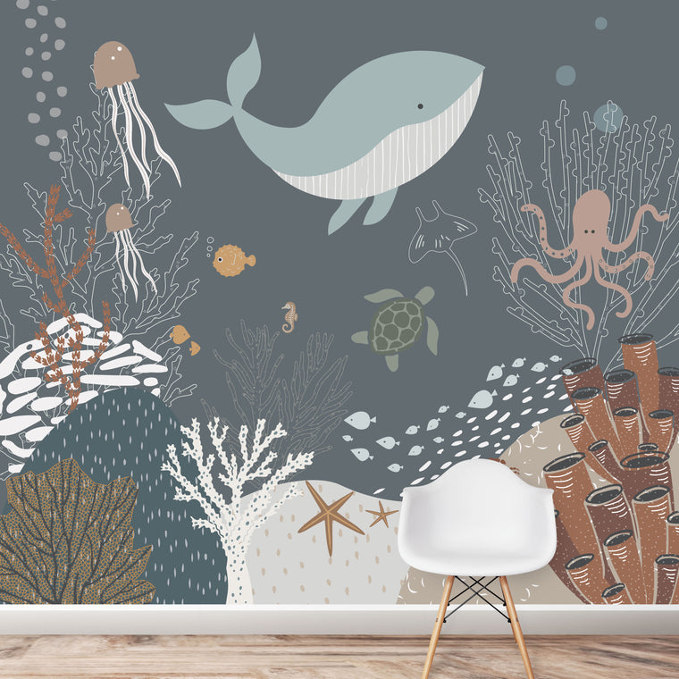 Under The Sea Wallpaper | Navy