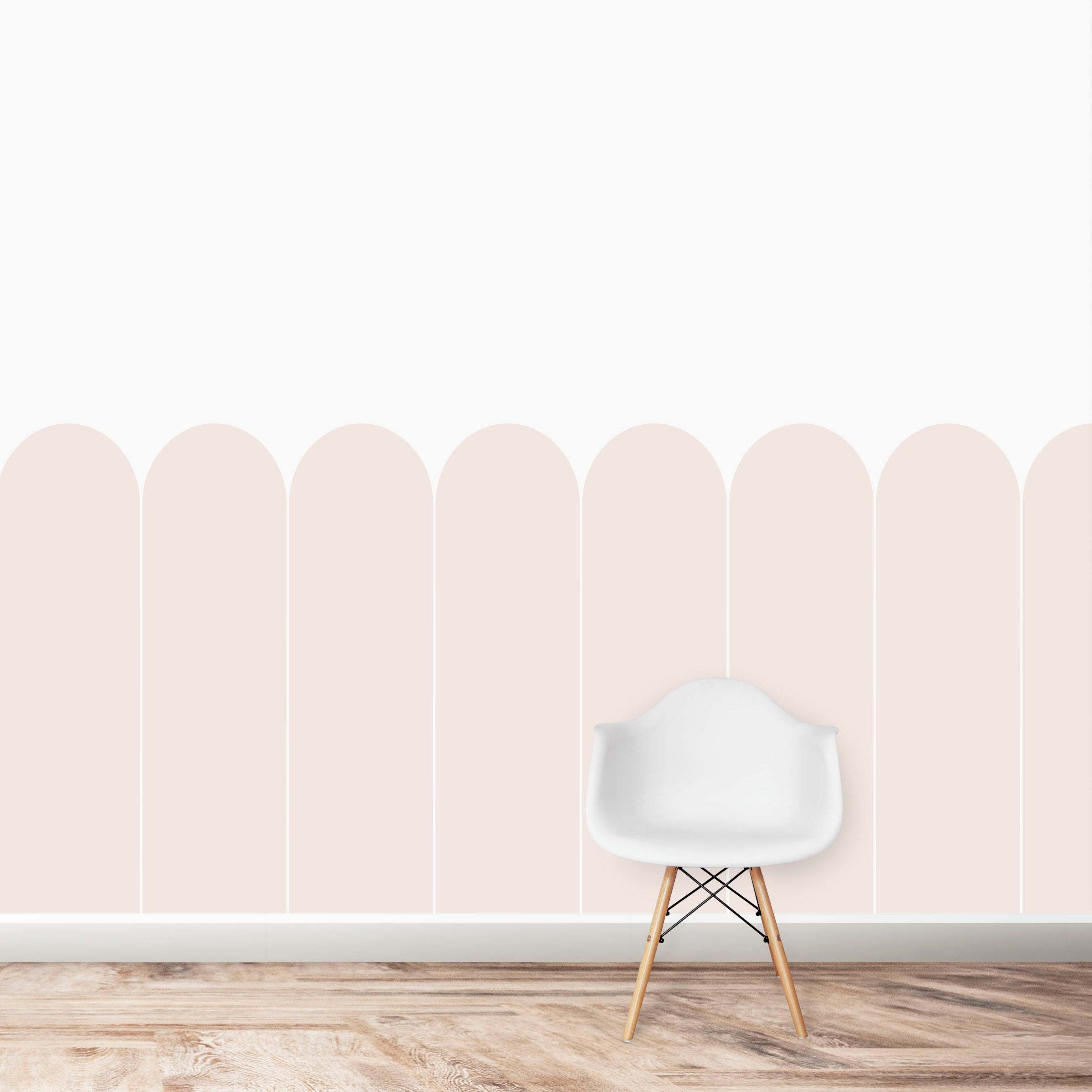Scallop Panels Wallpaper